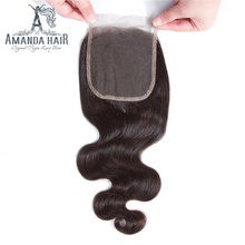 New Arrival Lace Closure With Baby Hair Piece,Hair Bundles With Closure Available, Brazilian Hair Closure