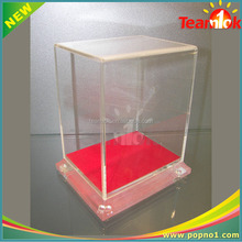 2016Customized acrylic donation box acrylic suggestion box with stand