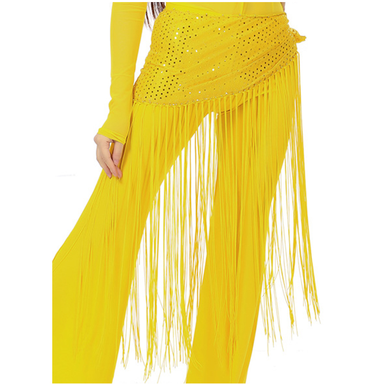 Fashion Pretty Polyester Filiform Ladies Sexy Cheap Belly Dancing Hip Scarves