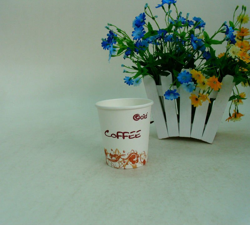 7oz Lovely Single Wal Paper Cup For Hot Coffee