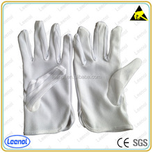 LN-8002 ESD PVC Dot Palm Gloves Anti Static Polyester Glove Coated With PVC Dot