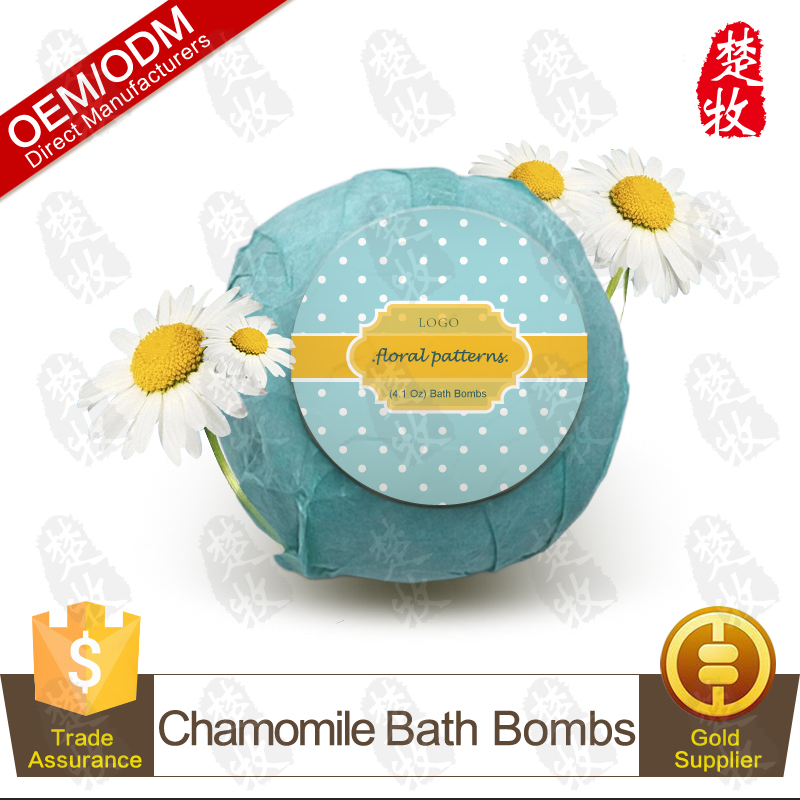 Natural and Organic Chamomile Essential Oil Fizzy Bath Bomb OEM/ODM Professional Supplier