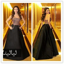 MEMF03 Sexy Myriam Fares Celebrity Dress Ball Gown Prom Dresses Strpalesses Arabic Middle East Style Evening Dresses