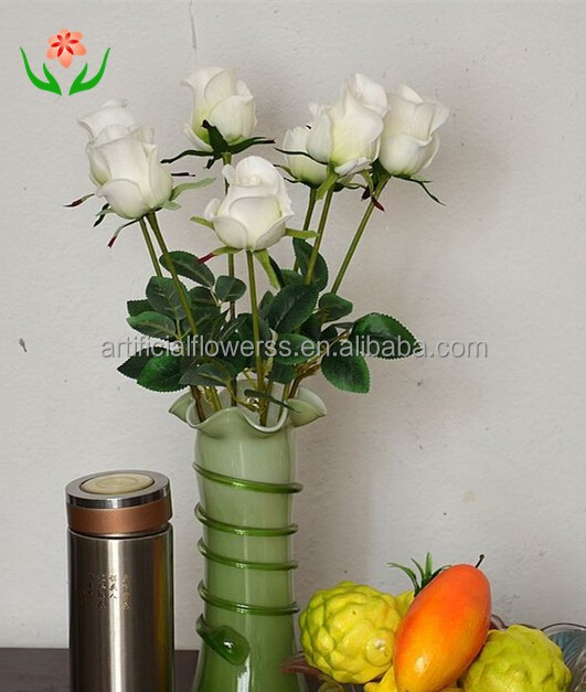 corlorful latex high quality wedding home decor artifical rose bunch flowers