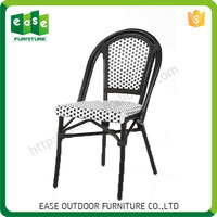 Factory Custom Luxurious bamboo look iron frame outdoor rattan arm chair