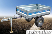 Off Road Trailer for Garden Use with Cage Small Dump Box Trailer