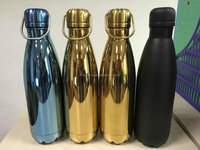 17oz double wall stainless steel insulated water bottle