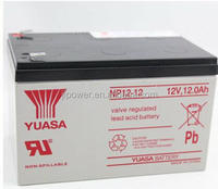 12v 12ah Yuasa battery 12v 12ah deep cycle battery for solar street light system