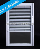 Made to measure sliding glass doors internal blinds Guangzhou factory