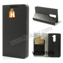 Crazy Horse Pattern Ultra Thin Stand Wallet Style Flip Leather Case Cover for LG Optimus G2 D801 D802 D803 with Card Holder