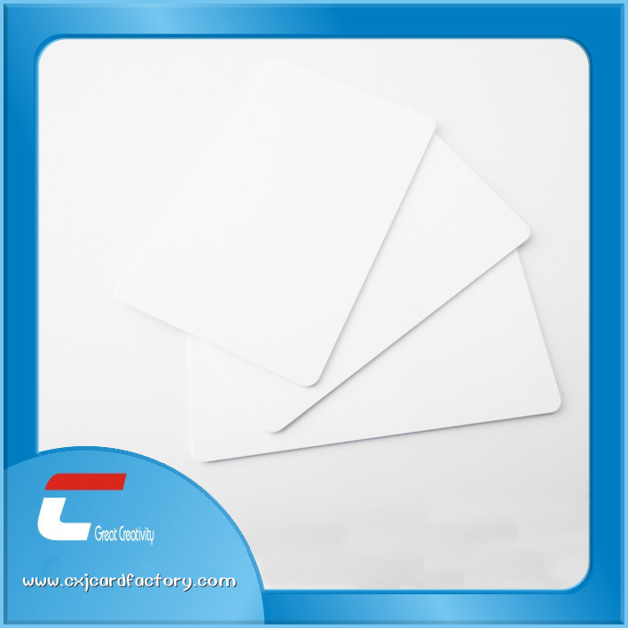 pvc printable blank white card for Personalized printing