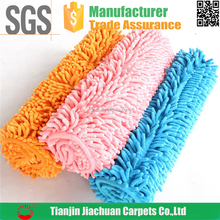 long pile pvc back polyester microfiber chenille tpr mat roll