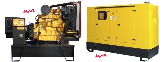 250 kVA John Deere Diesel Generator, new, with original John Deere engine, made in EU, open frame or soundproofed canopy