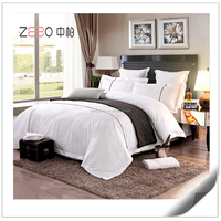 High Quality Cotton 60s White Sateen Wholesale Hotel Bedding Supplier