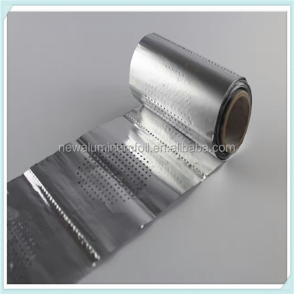 aluminium foil rolls perforated and embossed