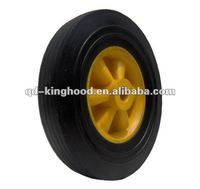 "8""x2.5""Small solid rubber wheel with plastic hub"