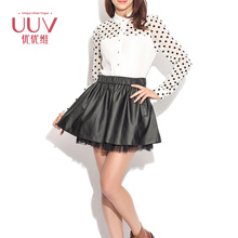 Women Pu Skirt Leather Skirt China 2017 Cheap Leather Skirt For Women