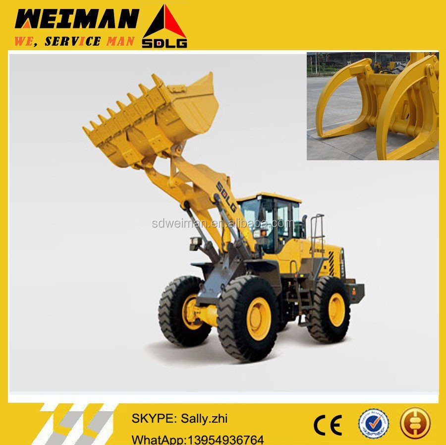 loader sdlg log grapple, log grapple single clamp from alibaba.com for sale (LG958)