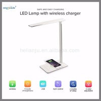 Hot sales Desk Lamp LED Lamp with wireless charger Table Lamp with USB Charging Port mobile phone charger