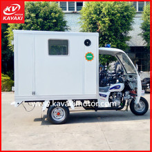 Guangzhou Kavaki Tricycle Factory Export Closed Cabin Ambulance Three Wheeler
