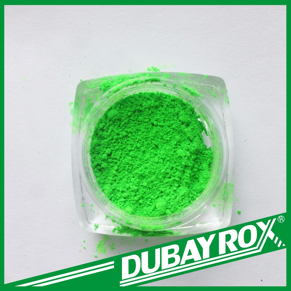 Powder Pigment Fluorescent Green Daylight For Wood Stain