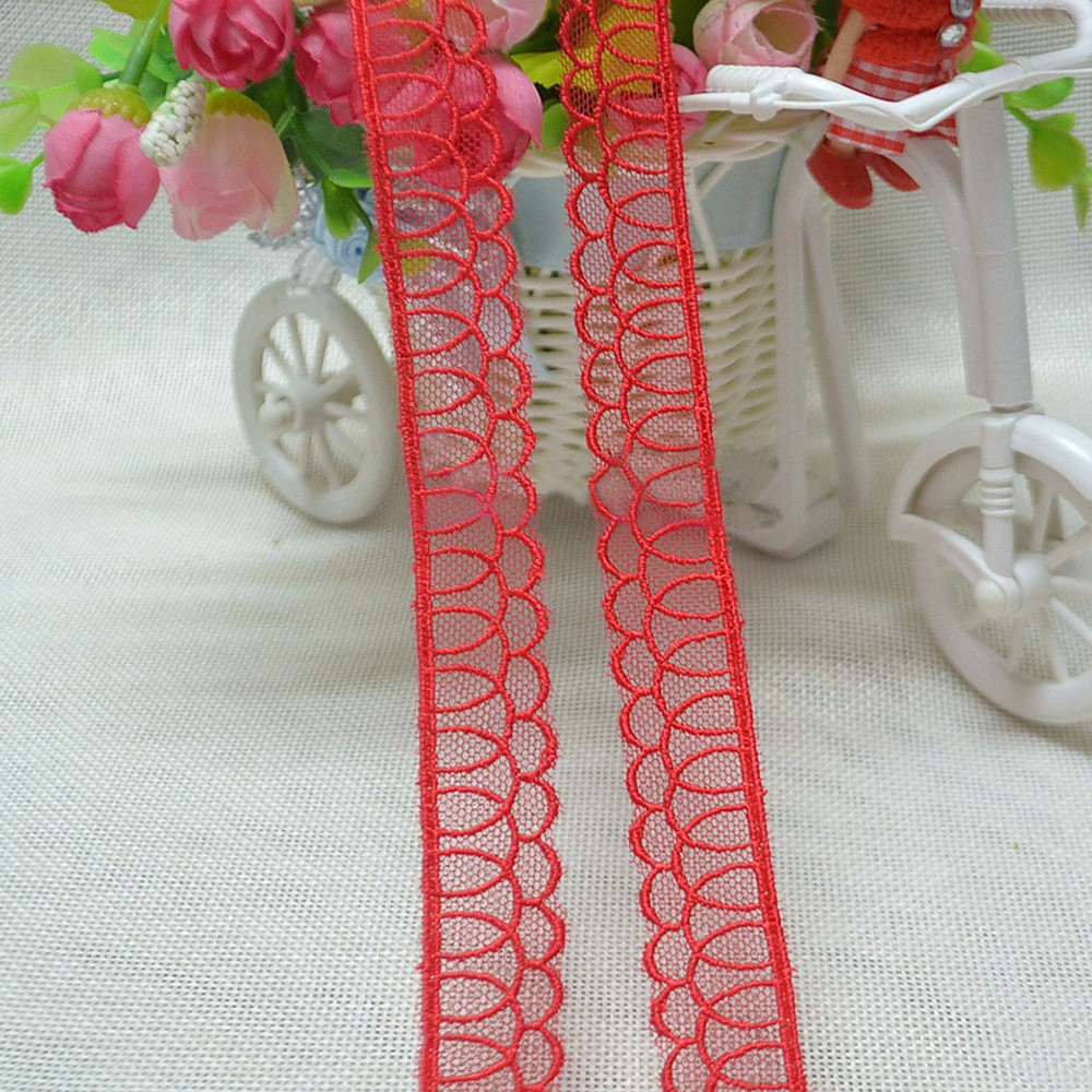 // bride dresses lace sewing thread floral // mesh trimming net lace for decoration clothes //