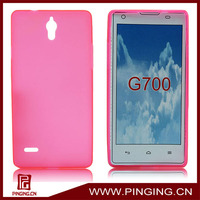 Soft silicon TPU skin case cover for huawei ascend g700