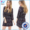 Yihao Partially lined chiffon casual dress Wholesale high fashion printed womens dress