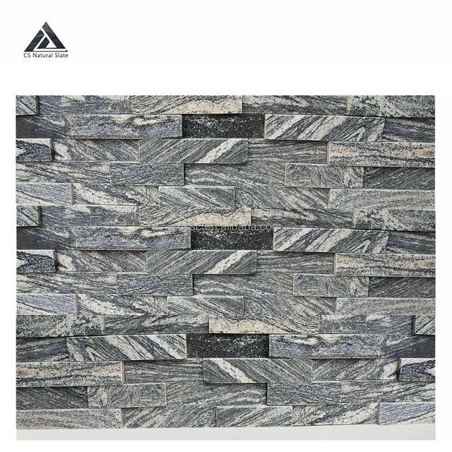 Culture stone outdoor wall cladding rectangle decorative snowflake ash granite natural thin stone veneer