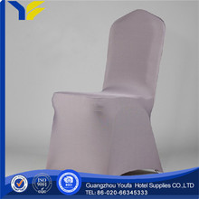 banquet Guangzhou spandex/nylon silver pleated chair cover with band sash buckle