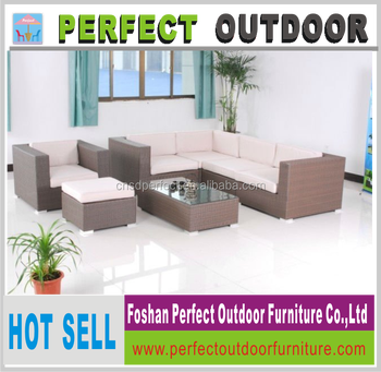 indoor rattan sectional furniture sofa set