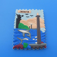 jakarta aquarium pvc fridge magnet with custom logo