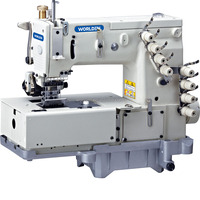 WD 1508P Flat Bed Double Chain Stitch Machine With Horizontal Looper Movement Mechanism Shoe Sewing Machine
