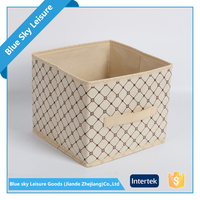 pp non woven fabric foldable collapsible functional document storage box