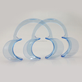 c type blue color silicone disposable lip cheek retractor dental