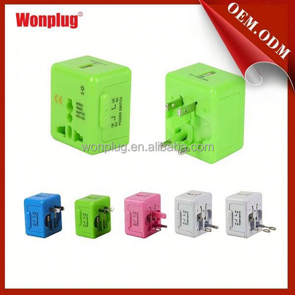 Wonplug 5V1A mini super performance CE ROHS approved amazing usa/euro to usa adapter plug