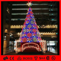 many color flowers on the giant christmas tree holiday huge christmas tree out-mall supplies