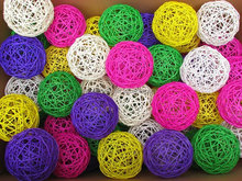 Handcraft different colored 3mm/4mm/5mm/6mm decorative reed diffuser rattan balls