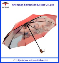 Chinese Manufacturer Windproof Structure Beautiful Sexy Girl Rain Umbrella