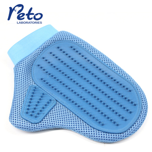 Pet Grooming Glove Gentle Deshedding lint remover Brush Glove Pet Grooming Dogs Cats pet bathing tool