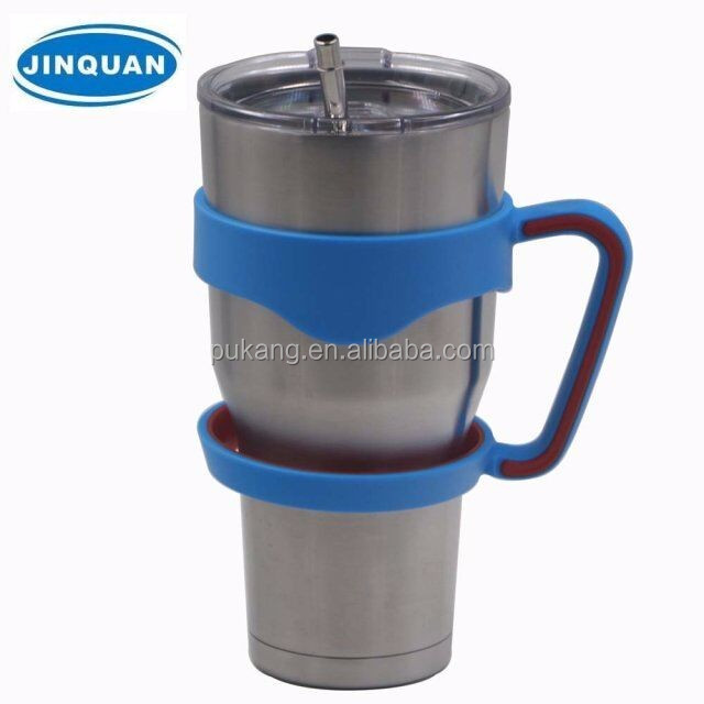 30 oz double wall acrylic tumbler with straw wholesale handle