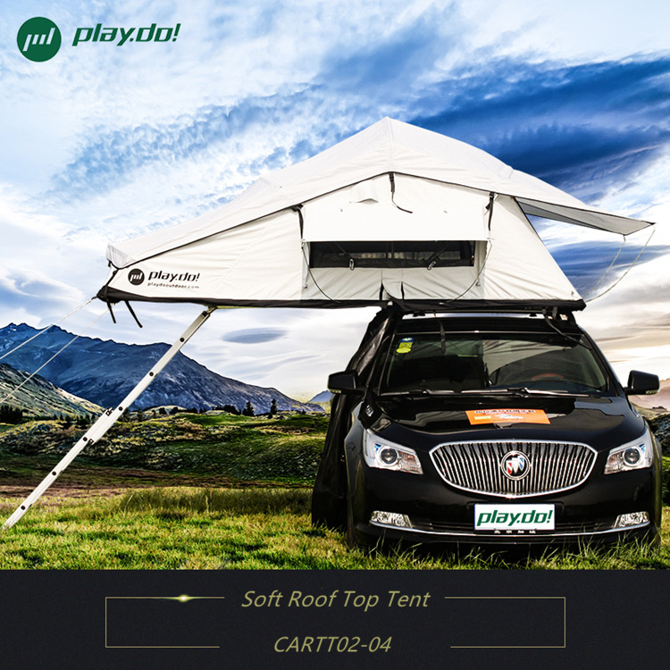Lightweight tent trailer tent soft car roof top tent camping car optional with annex and mosquito net