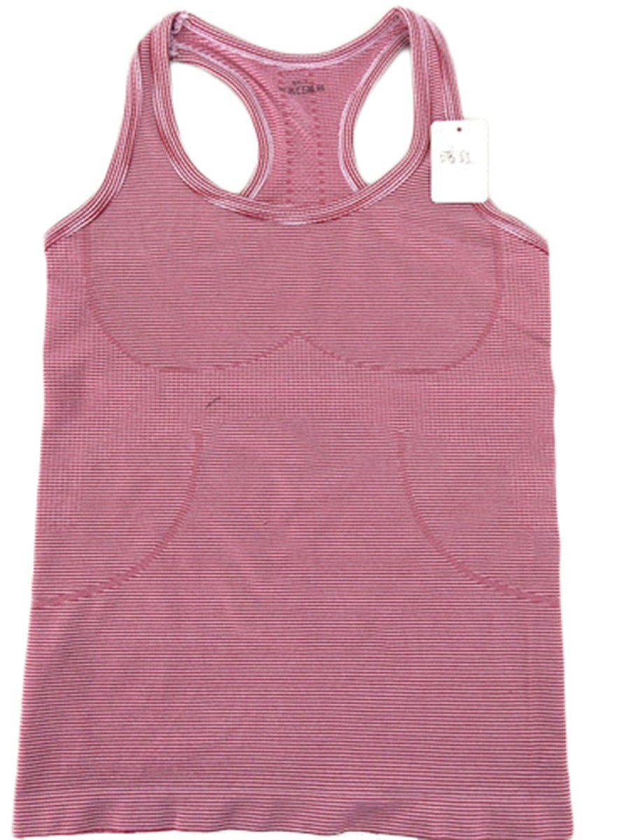Women Sports Striped Tank Tops Sleeveless Vest Dry Quick for Gym Fitness Singlet for Running Shirt Top for Female
