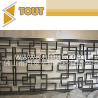 Decorative Custom Stainless Steel Metal Folding Screen Room Divider