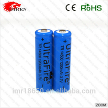 Ultrafire TR14500 1200mAh 3.7V Li-ion rechargeable battery 14500 battery with button top