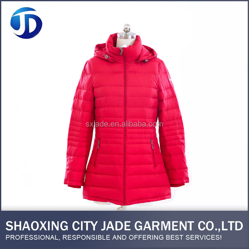 Latest Fashion Designs Outdoor Hood Down Jacket