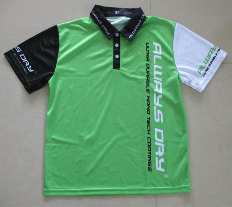 Wholesale china sports quick dry sublimation women golf polo shirts with neon green
