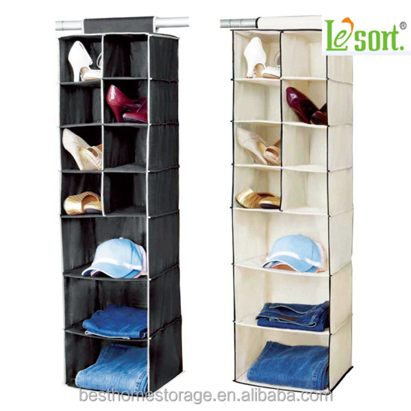 Factory Price Non woven Fabric Shoe Hanging Closet Sweater Storage Organizer