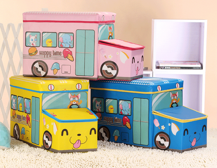 bus shape storage boxes,non woven fabric storage box storage bins,collapsible foldable storage packing box with lid and handle