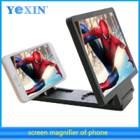 Portable Plastic 3D Enlarge Stand LCD LED screen mobile phone screen magnifier with holder